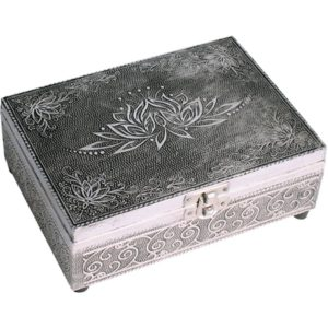 jewelry box lotus silver